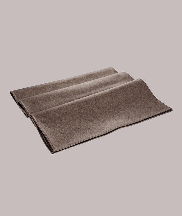 Table runner ecopelle marrone  45×140 cm