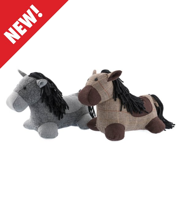 *Pony tessuto spigato marrone/grigio 25 cm*