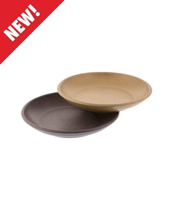 *Vassoio MDF rotondo marrone/verde 30×4,5 cm*