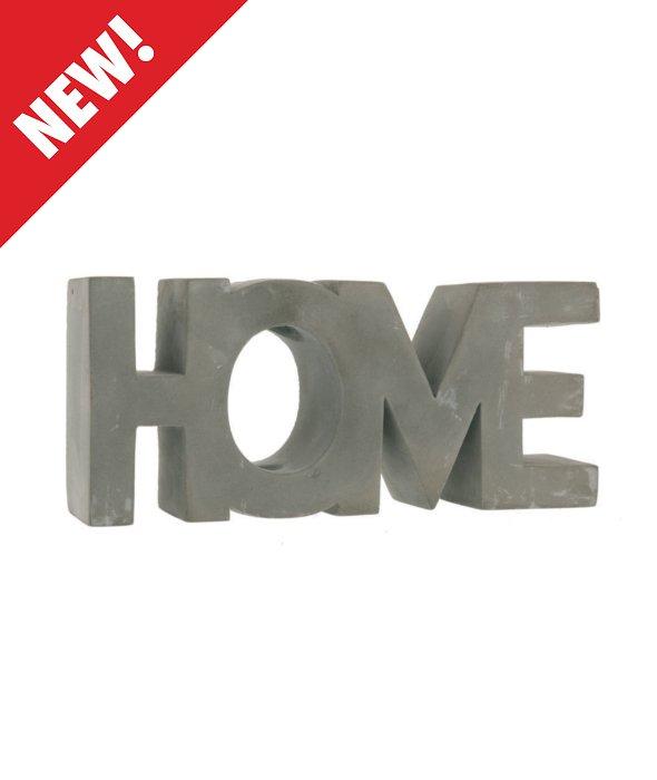 *Scritta HOME cemento 23×10 cm*