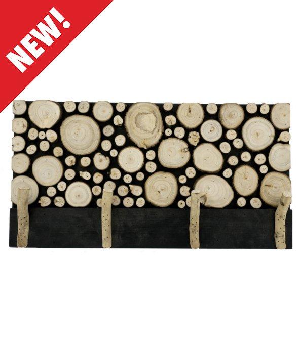 *Quadro legno decoro dischi 4 ganci 30×60 cm*