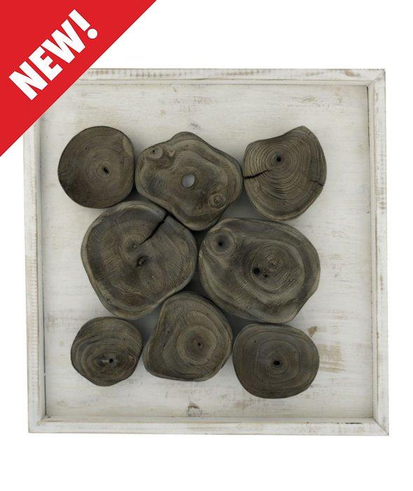 *Quadro legno sbiancato grigio 54×54 cm*