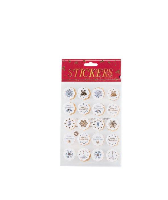 Stickers fiore bianco disegni argento/oro 40pz