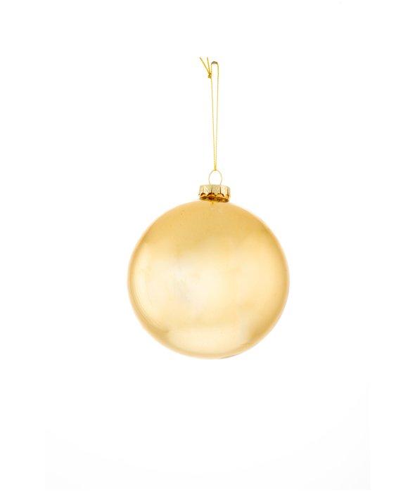 Sfera vetro oro d.10 cm