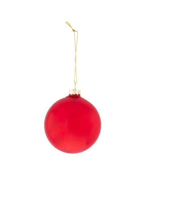 Sfera vetro rosso classico d.8 cm