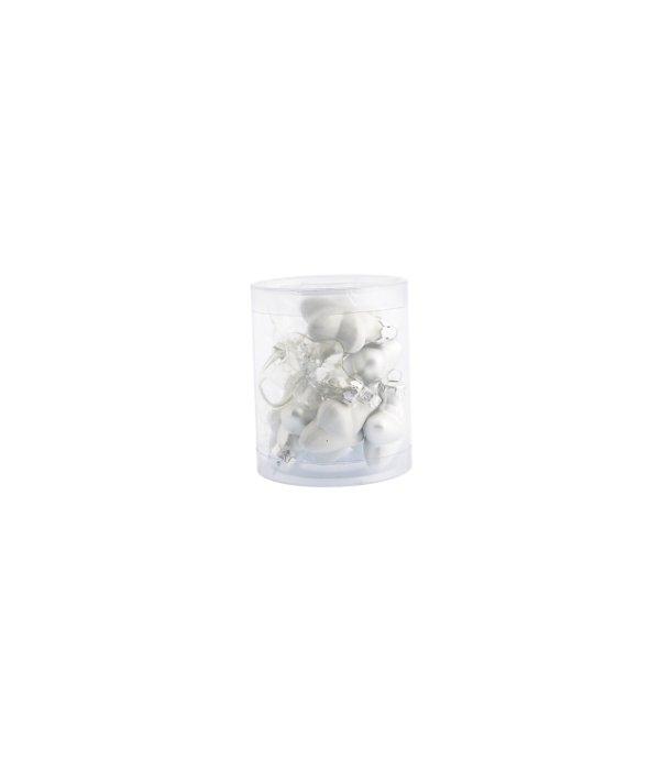 Cilindro 12 stelline vetro bianco/ trasparente 30mm