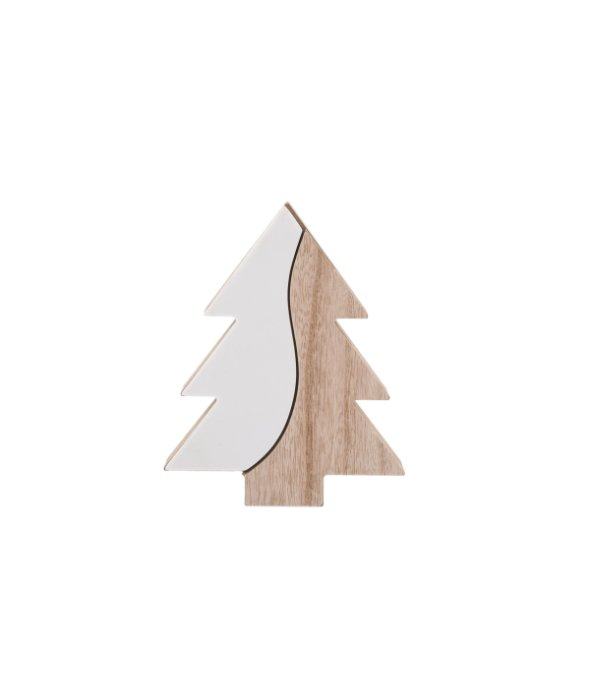 Albero legno/pietra bianca 14,5×18 cm