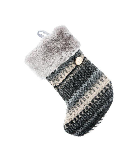 Pendente calza tessuto/pelo sintetico  14×17 cm