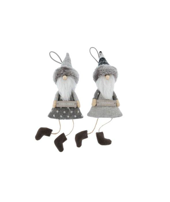 Pendente babbo tessuto grigio assortito 9×20 cm