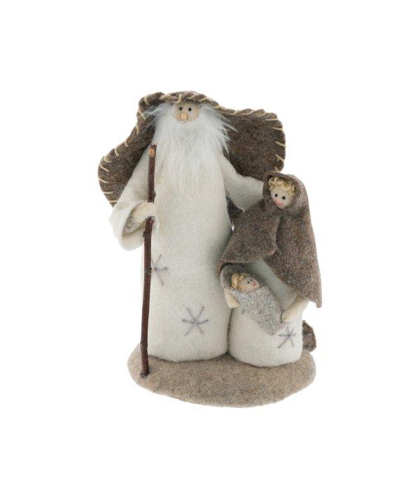 Natività lana cotta marrone-crema 21×34 cm