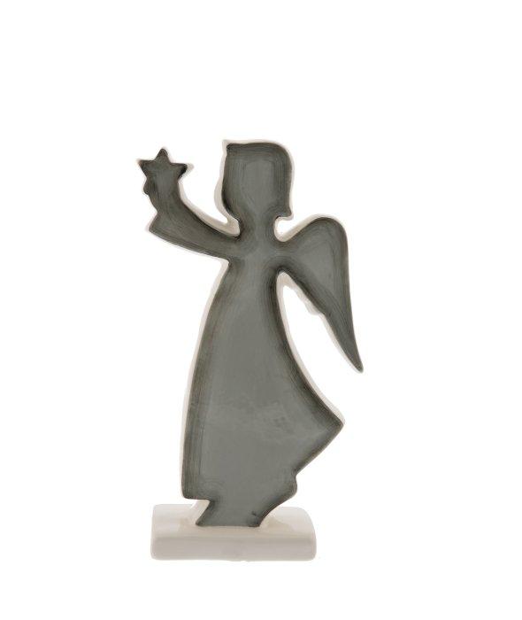 Angelo ceramica grigio-bianco c/stella 10×20 cm