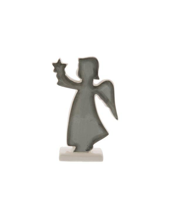 Angelo ceramica grigio-bianco c/stella 9×15 cm