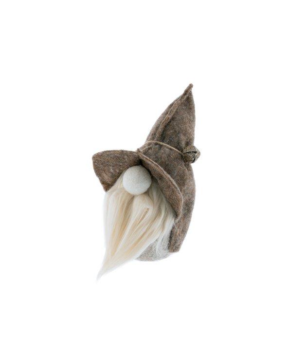 Faccione Babbo feltro cappello beige 15×30 cm