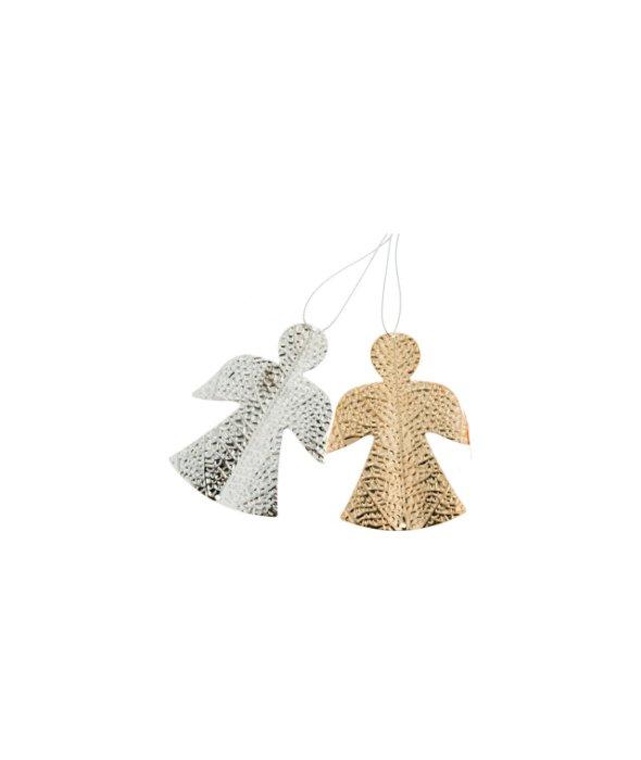 Pendente angelo metallo assortito 8×10,5 cm