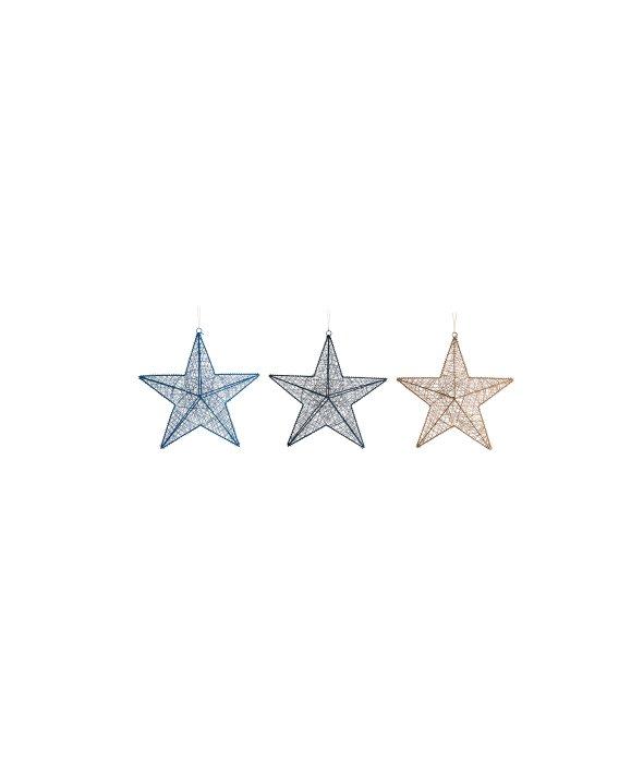 Pendente stella intreccio corda assortito d.12 cm