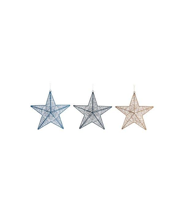 Pendente stella intreccio corda assortito d.20 cm