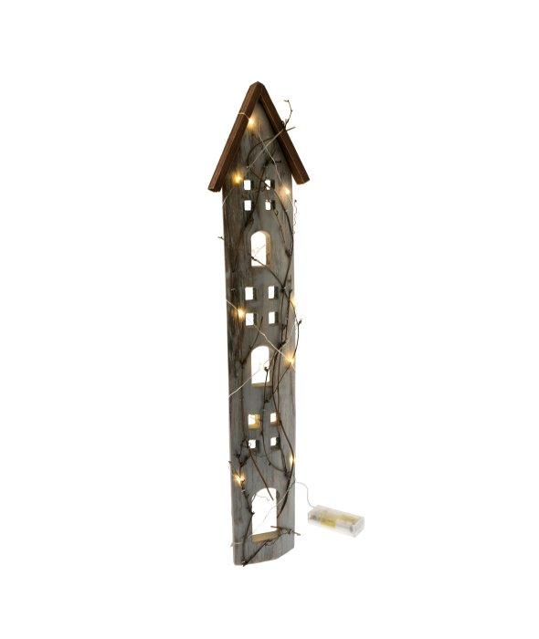 Casa stilizzata appendere MDF c/luce 13×62 cm