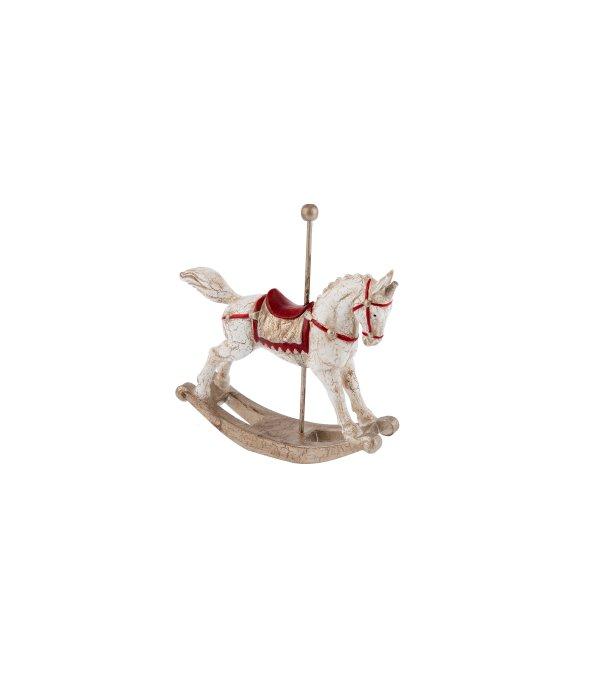 Cavallo dondolo giostra resina vintage 15×17 cm