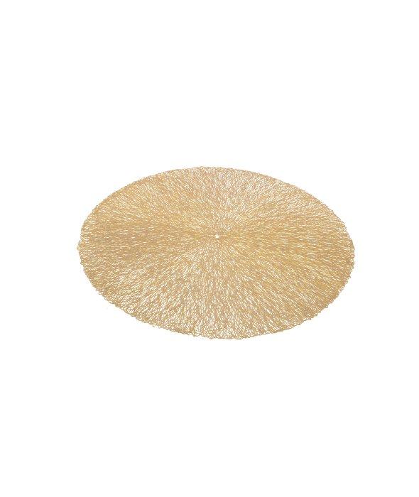 Sottopiatto pvc oro opaco rete traforata 37 cm