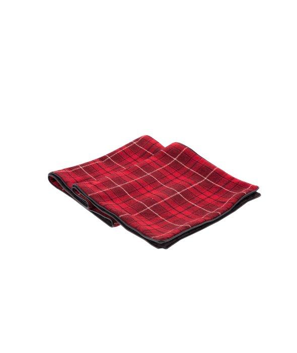 Runner tessuto scozzese rosso 33×180 cm