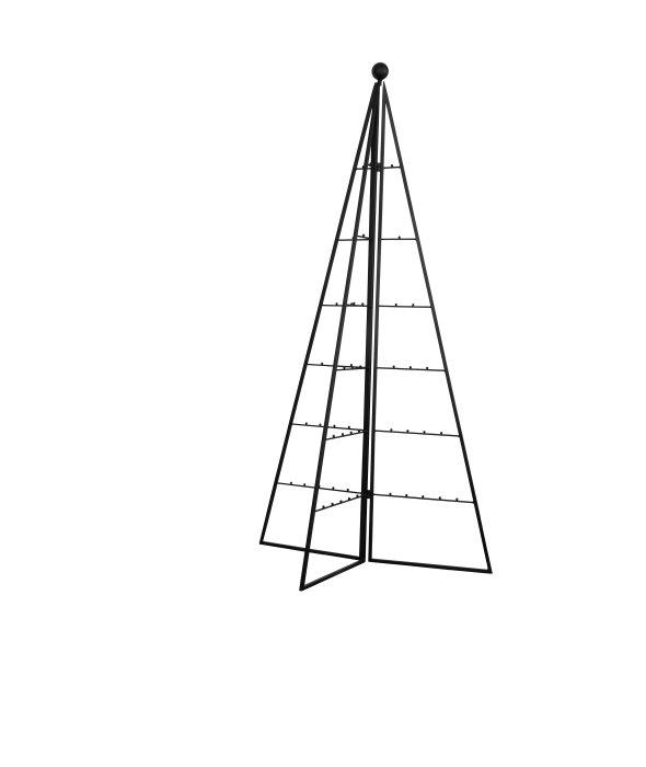 Sagoma pino 3D metallo richiudibile ganci h.120 cm
